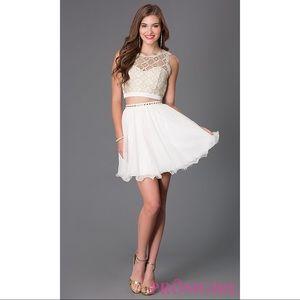 Ivory Two Piece Lace Dress